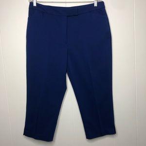 Ruby Rd. Royal blue capris. Stretch. Size 14.